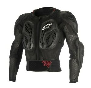 ALPINESTARS BIONIC ACTION JACKET BODY ARMOUR PROTECTION SUIT MX ENDURO BLACK RED