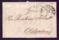 Vorphilabrief Altbrief Bremen 1831 mit Schlüsselstempel nach Oldenburg (584)
