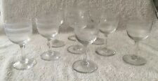 VICTORIAN SHERRY GLASSES WITH ETCHED SPIRAL BORDER DETAIL