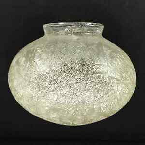 """Glass Globe Replacement 6"""" Crackle Design Light Amber Tint 3.25"""" Fitter _236-G18"""