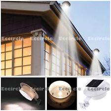 4X LED Warm White Solar Powered Outdoor Garden Light Gutter Fence Wall Bracket