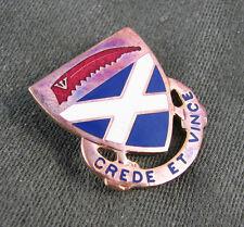 200th Infantry Regiment clutch back pin 1E hallmark CREDE ET VINCE motto