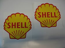 Classic Shell huiles RACE & RALLY Voiture Autocollants x2