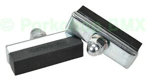Dia-Compe reissue threaded brake pads old school BMX bicycle (PAIR) BLACK