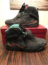 Air Jordan Retro 8 Tinker Air Raid Black Basketball Sneakers 305381-004 Size 11