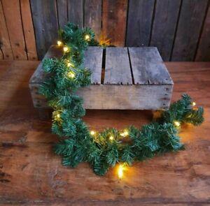 LED Girlande Tanne Tannengirlande 180cm 20 Leuchten Deko Weihnachten Türe Diele