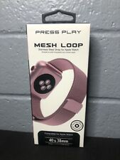 Press Play Mesh Loop Stainless Steel Strap For Apple Watch Rose/Pink