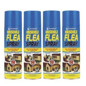 4x 200ml Household Flea Killer Spray Aerosol Animal Flea Dog Cat Tick Protection