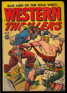 Western Thrillers #2 Nice Skull Cover Golden Age Fox Comic 1948 VG+