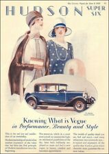 1928 Antique Auto AD Hudson Super Six  Custom Victoria  rare early car AD 040718