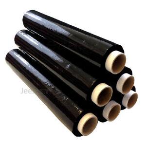 12 Heavy Duty Black Pallet Wrap Shrink Wrap Stretch CAST 500mm 25 Micron STRONG