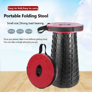 Outdoor Retractable Stool Chairs Portable Folding camping Fishing Collapsible