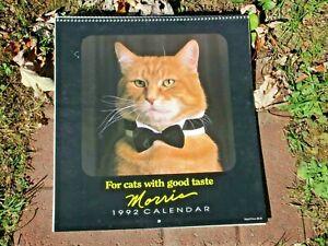 Morris the Cat 1992 Calendar Paper Book Advertising Lot Unused