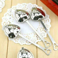 Heart Shaped Tea Leaf Strainer Filter Herbal Spice Infuser Sale Stainless Steel