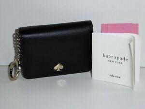 KATE SPADE NEW YORK NADINE BLACK LEATHER BIFOLD CARD WALLET HOLDER