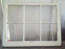 ANTIQUE WOOD WINDOW PICTURE FRAME PINTEREST 6 PANE 36x27 IVORY DISTRESSED RUSTIC