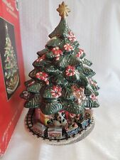 Christopher Radko Holiday Celebration Musical Christmas Tree Rotating Train Base