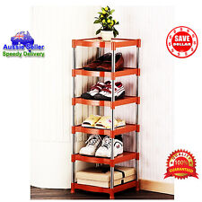 6 Tier Portable Stainless Steel Shoes Organizer Space Saver Stackable Rack KOREA