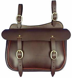 Leather Straight Saddle Bag