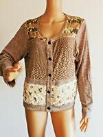 CREAM Jacke Shirtjacke Shirt mit vielen Details Gr.XXL braun  #LRS1959