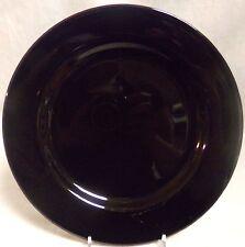 "Waechtersbach Germany 10.5"" Rimmed Dinner Plate (Made in Spain) - Black"