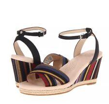 "UGG Australia ""Nyssa"" Wedge Sandals Striped Size 9 Espadrille Ankle Strap"