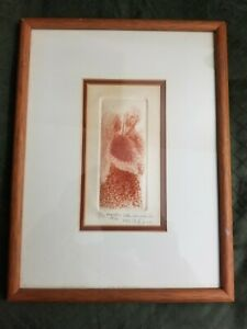 EIKO KAWAKUBO LIMITED EDITION ETCHING  #19 OF 30 1976 JAPANESE/MEXICAN ARTIST