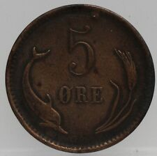 Denemarken - Denmark 5 Ore 1884 Cristian IX - KM# 794.1