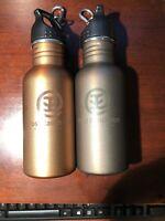 NEW Post Ranch Inn BPA Free Stainless Steel Bronze & Gold Water Bottle x 2 fm CA