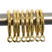 12 PCS CURTAIN HOOKS FOR CURTAINS GOLD PLASTIC WITH CURTAIN RINGS