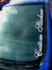 500mm (50cm) Large Custom Name Slogan Text Personal Car Window Sticker Decal