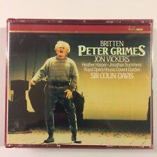 1991 BRITTEN Peter Grimes SIR COLIN DAVIS 2 CD Set Philips 432 578-2