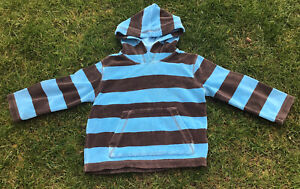 *MINI BODEN Towelling Beach Hoodie /  Hooded  Top - Stripes: Age 3-4  - Unisex*