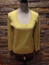 NWOT Talbots Pure Cashmere Sweater - Pear Yellow - Citron - Small