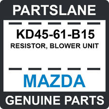 KD45-61-B15 Mazda OEM Genuine RESISTOR, BLOWER UNIT