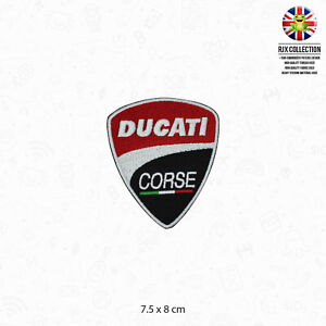 Ducati Corse Motor Bike Brand Logo Patch Iron On Patch Sew On Embroidered Patch
