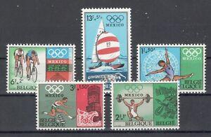 Belgien 1513-17 ** Olympia 1968 kpl.