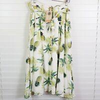 LABEL OF LOVE Womens Size 14 Maui Maui Pineapple Print Skirt NEW + TAGS