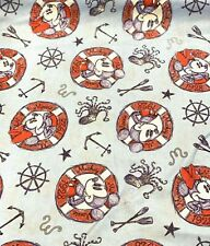 100% Cotton Fabric Springs Creative Disney© Mickey Mouse Nautical Anchors Buoys