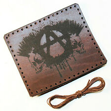 Anarchy - leather patch, Punks leather patch, Rocker sew, Leather patch.