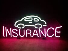 "New Car Insurance Neon Light Sign 24""x20"" Lamp Poster Real Glass Beer Bar"