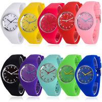 Geneva Women Soft Jelly Silicone Band Ladies Quartz Sports Girl Kids Wrist Watch