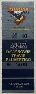 David Bowie Original Concert Ticket Lucca Summer Festival Tuscany 15th Jul 2002