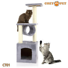 Cozy Pet Deluxe Cat Tree Sisal Scratching Post Quality Cat Trees - CT01-Grey