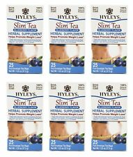 6 Packs of Hyleys Slim Tea Blueberry 25 teabags