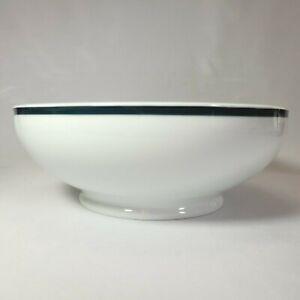 """Richard Ginori Impero Salad Bowl Smooth White Porcelain Stripe 11"""" Serving Bowl"""