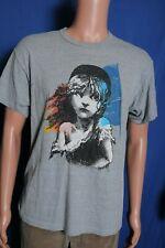 Vintage 80s 1986 Les Miserables double sided gray souvenir t shirt L