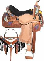 Barrel Racing Western Pleasure Horse Saddle TACK Set Premium Leather