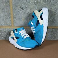 Girls Light Blue white off white Huarache Nike Trainers shoes size 4 footwear