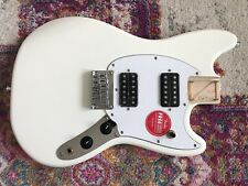 Fender Squier Mustang HH BODY Olympic White - FULLY LOADED + neck plate!